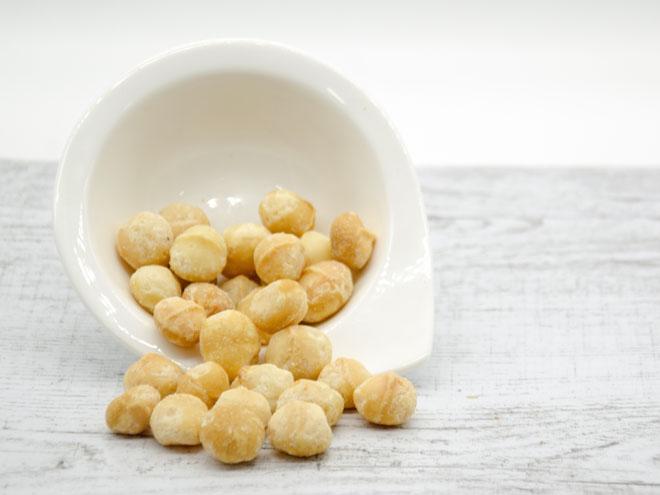 Nueces de Macadamia tostadas sin sal